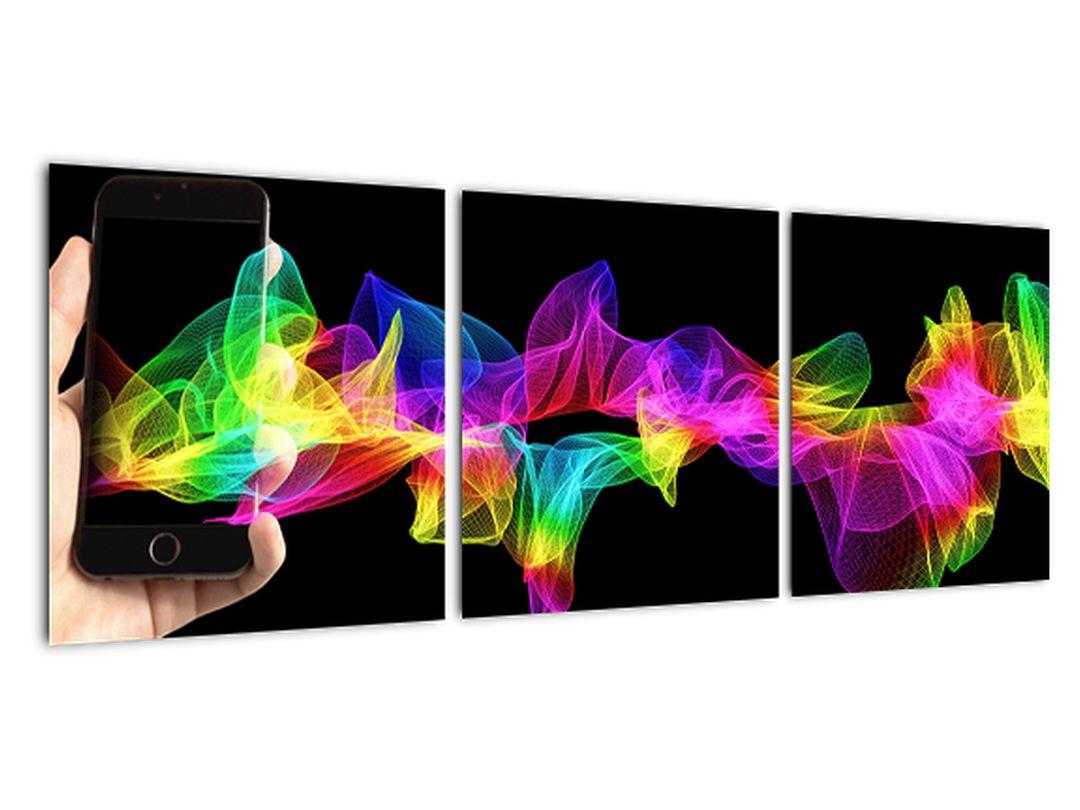 Farebný obraz s mobilným telefónom