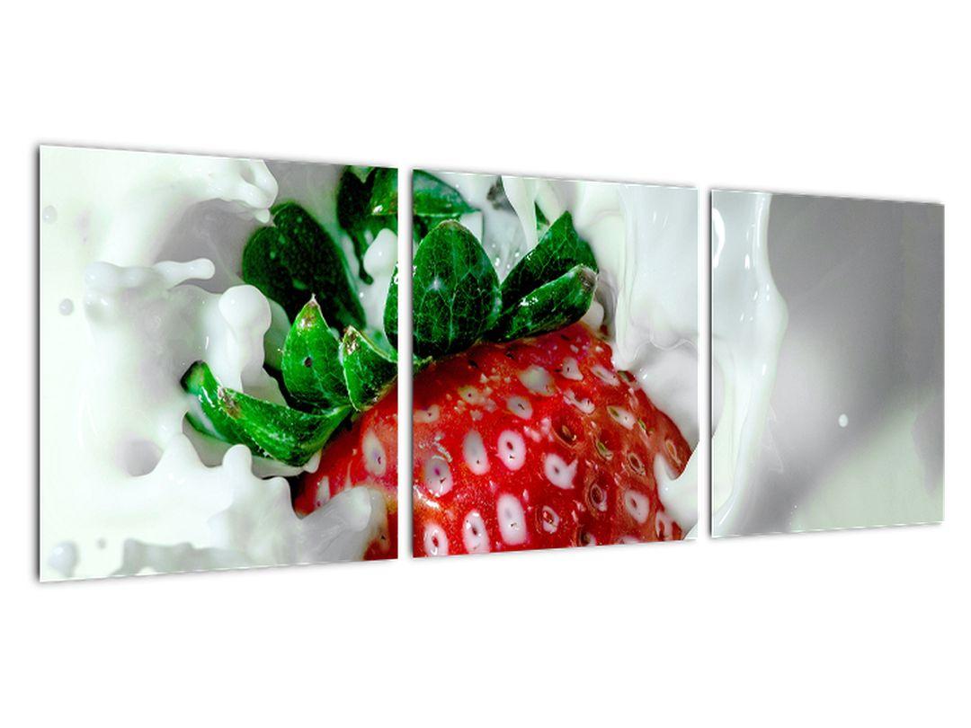 Obraz jahody v jogurte
