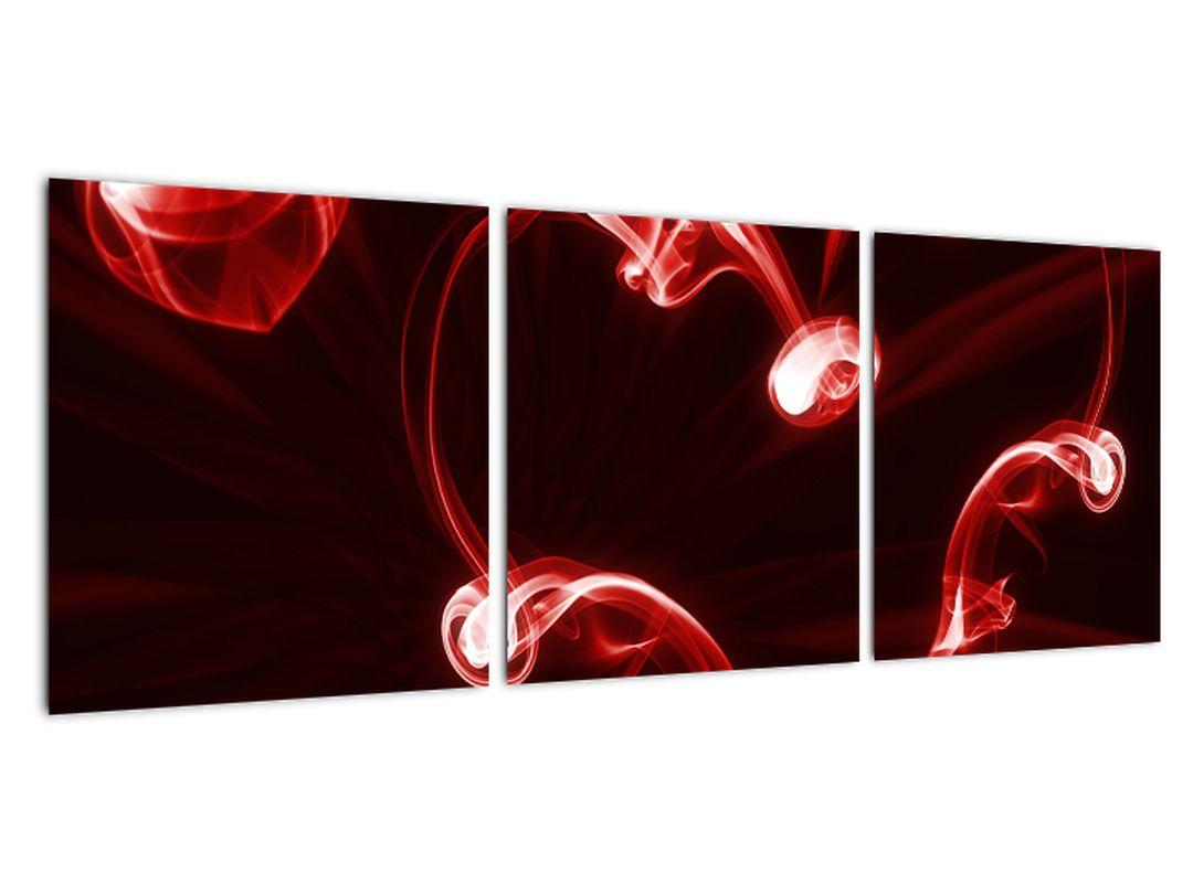 Abstraktný obraz - červené srdce