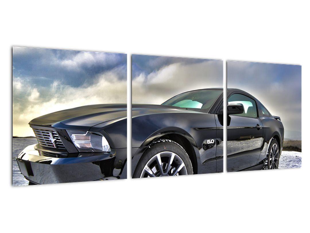 Obraz čierneho auta