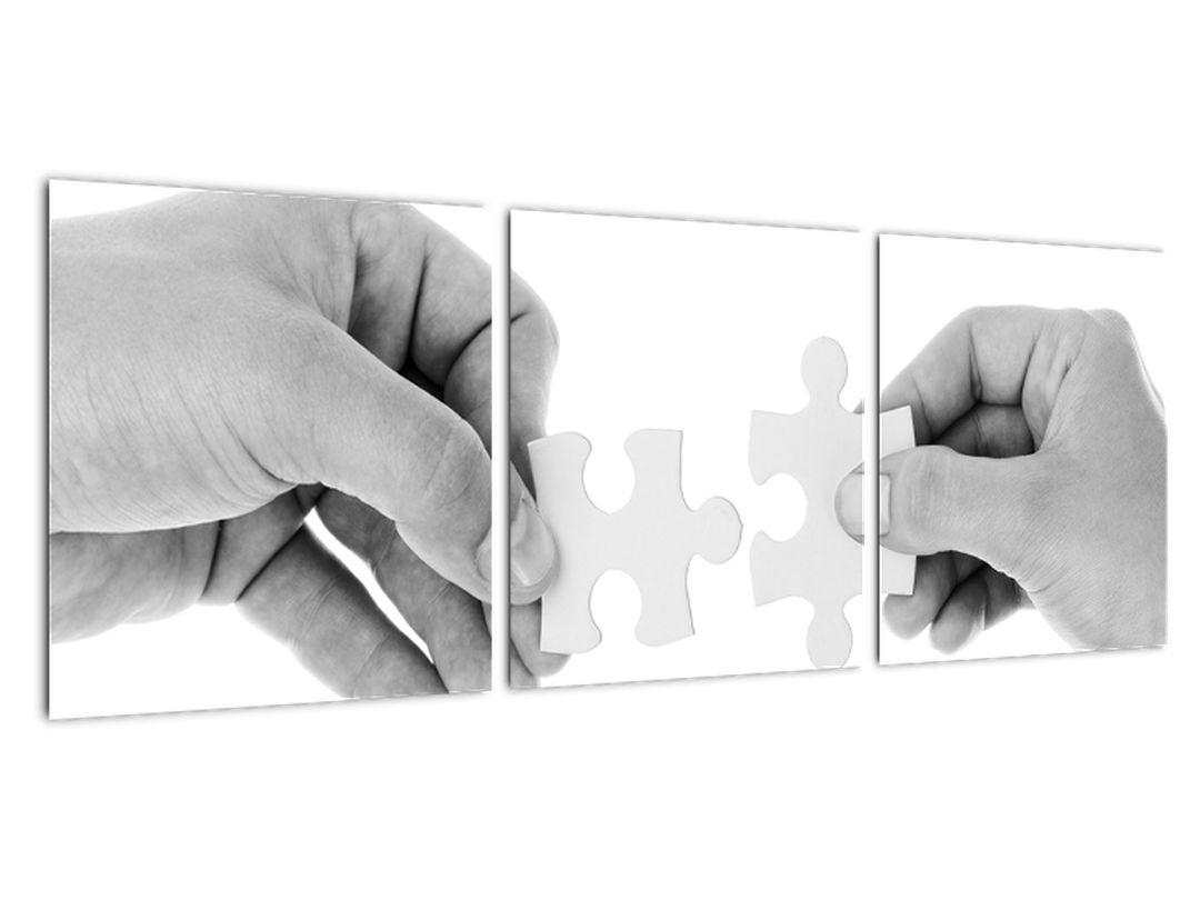 Čiernobiely obraz - puzzle