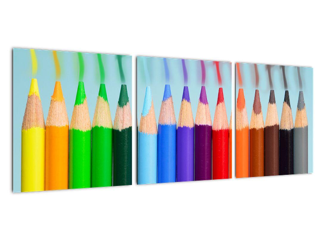 Obraz farebných pasteliek