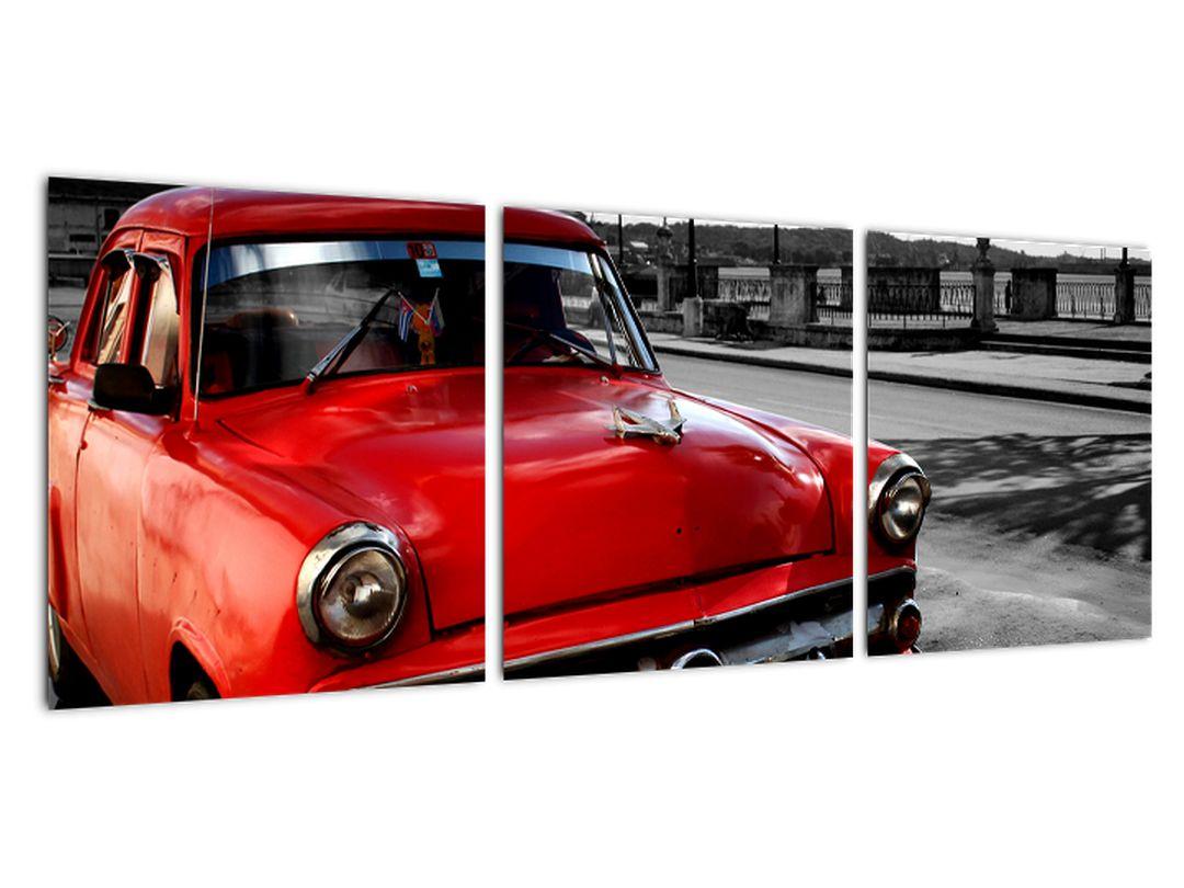 Obraz červeného auta - veterán